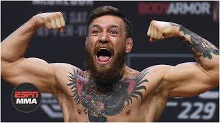 Download Conor McGregor vs Khabib Nurmagomedov weigh-in: Conor kicks out, Drake rocks Irish flag | UFC 229 Mp3 and Videos