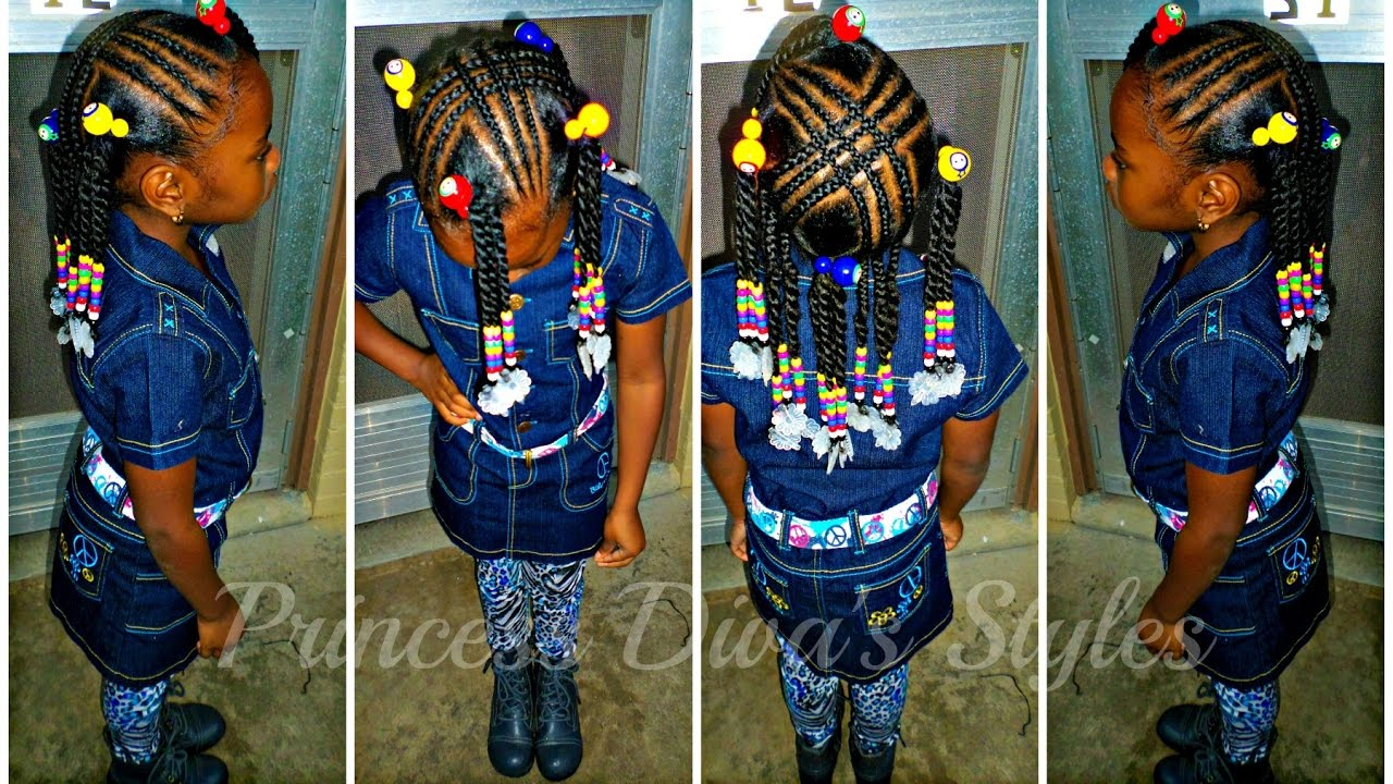 Little Girls Hair Style Remix Braids Ponytails
