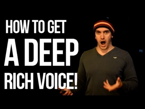 Get a Deep Rich Voice!  - Yawning techniques.