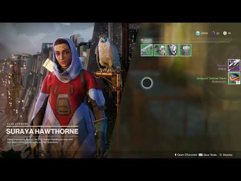 Destiny 2 Give Dawning Gift to Hawthrone Get Vanguard Tokens