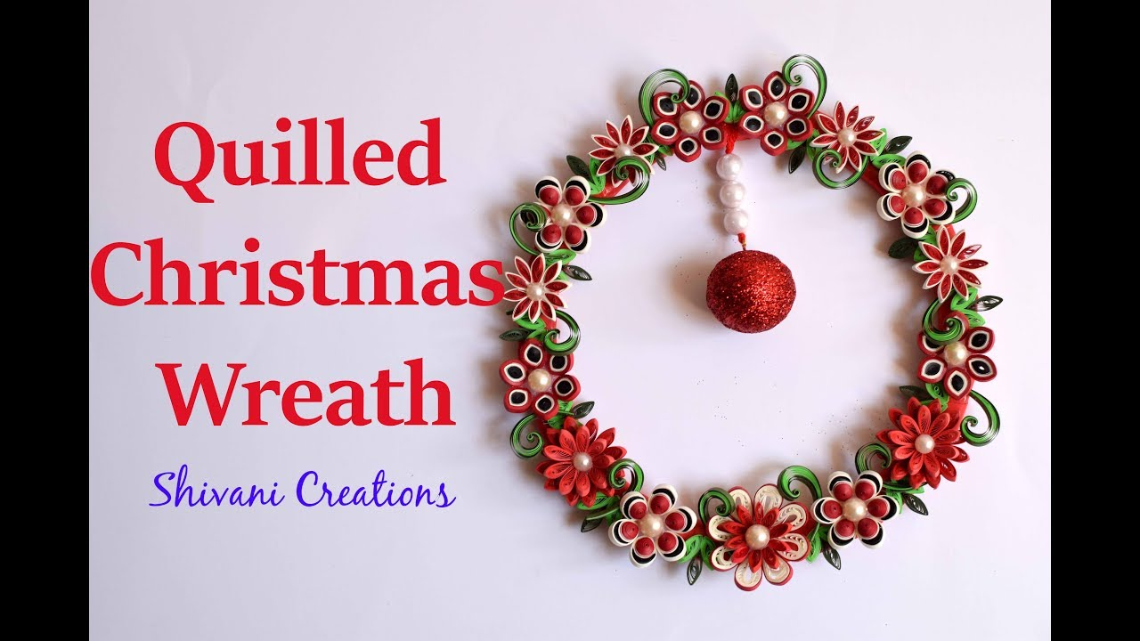 Christmas Ring.Quilling Christmas Wreath Using Waste Cooker Ring Christmas Decoration Best From Waste