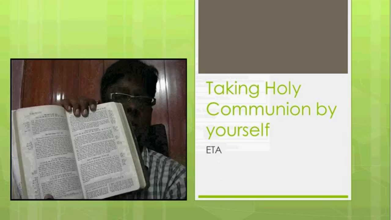 How to prepare for Holy Communion