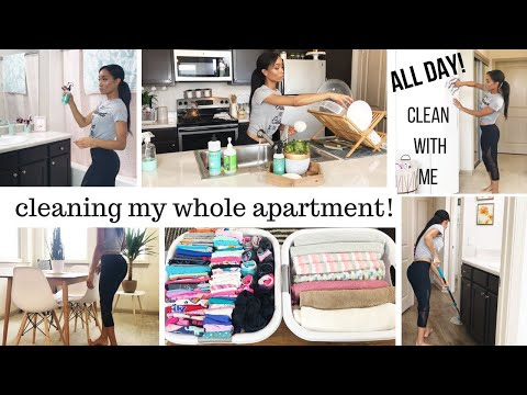 ALL DAY CLEAN WITH ME // CLEANING ROUTINE SAHM // CLEANING MOTIVATION