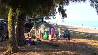 ч1 В Абхазию на машине с палатками - Поездка на море