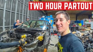 PARTOUT CHALLENGE Disassembling An ENTIRE Car In TWO Hours