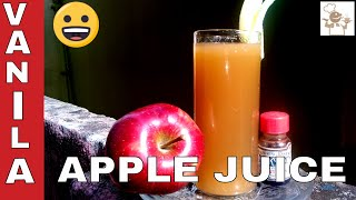 How to Make Fresh Apple Juice with Vanila Flavour