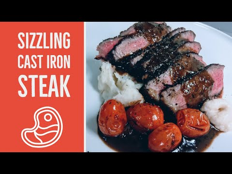 Sizzling Cast Iron Steak