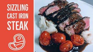 Sizzling Cast Iron Steak