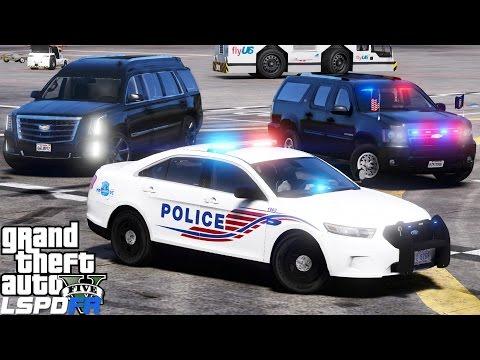 GTA 5 LSPDFR Mod 437 | Washington DC Metropolitan Police & Secret Service Escorting A Prime Minister