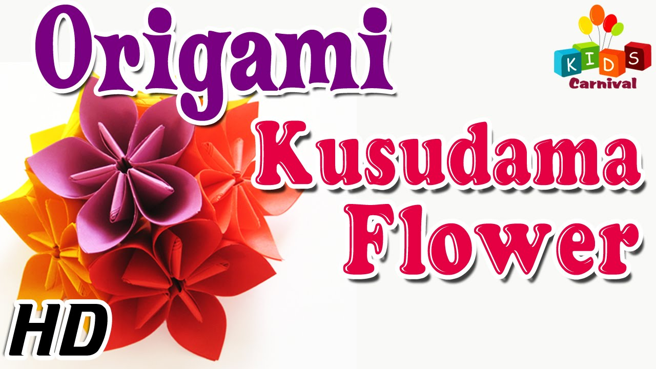 How to make origami kusudama flower step by step - Origami How To Make Kusudama Flower Simple Tutorials In English Youtube
