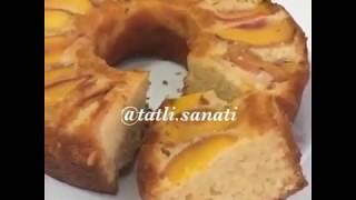 Denenmiş Tam Kıvamında Şeftalili Kek Tarifi | Tatlı Sanatı | Tatlı Tarifleri | Meyveli Kek