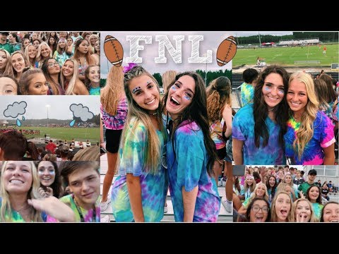 TIE-DYE OUT!! FIRST HIGH SCHOOL FOOTBALL GAME OF THE SEASON IN THE RAIN!! || The Junior Year Vlogs!!