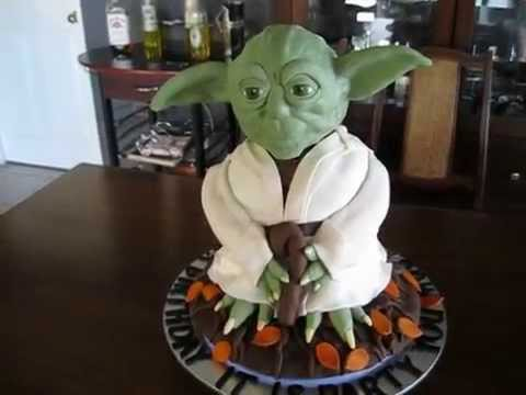 yoda 3d cake youtube. Black Bedroom Furniture Sets. Home Design Ideas