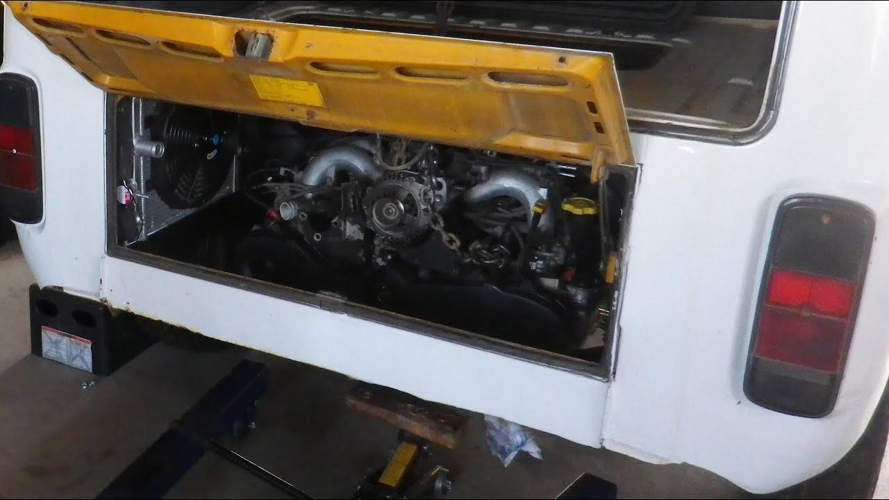 Subaru Engine Install into Bus - Busaru Engine Conversion Part 7
