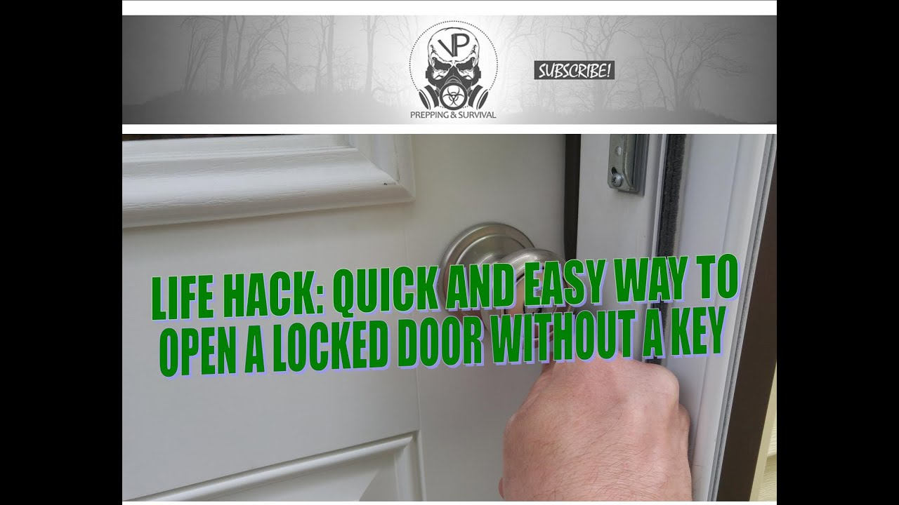 How to open a locked door without a key quickly and easily - YouTube