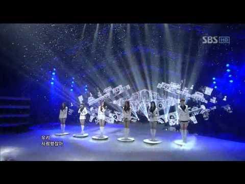 T-ara+Davichi  - We were in love (우리 사랑했잖아) @SBS Inkigayo 인기가요 20120115