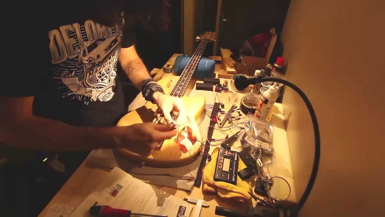 Installing Two Emg 35dc On My Bass Youtube Hz Pickups Wiring Diagram 40
