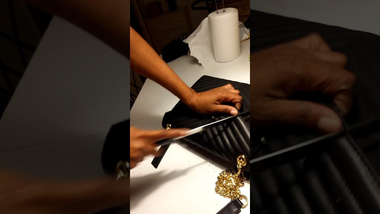 79d6e40d4c Fake Ysl bag - YouTube