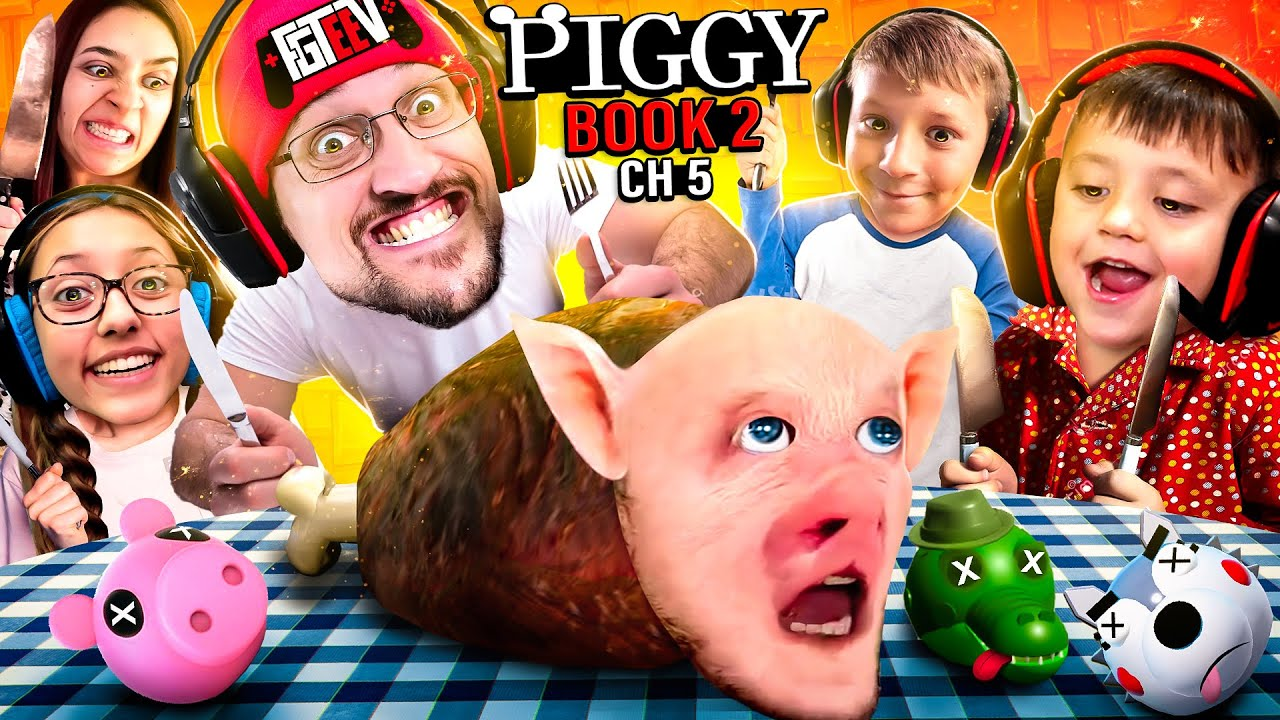 Download PIGGY for LUNCH! FGTeeV Fam SEWERS Escape! (ROBLOX Book 2 Ch 5 Gameplay/Skit)