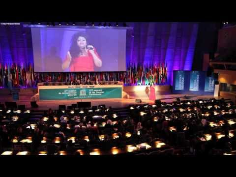 Nicole Slack Jones singing at UNESCO - DG Ms Irina Bokova Investiture 2013