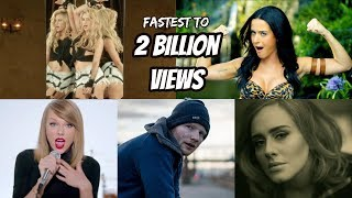 Top 20 Fastest Songs To Reach 2 Billion Views In YouTube History!! streaming