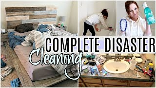 COMPLETE DISASTER CLEAN WITH ME 2019 | MESSY HOUSE EXTREME TIME LAPSE SPEED CLEANING MOTIVATION