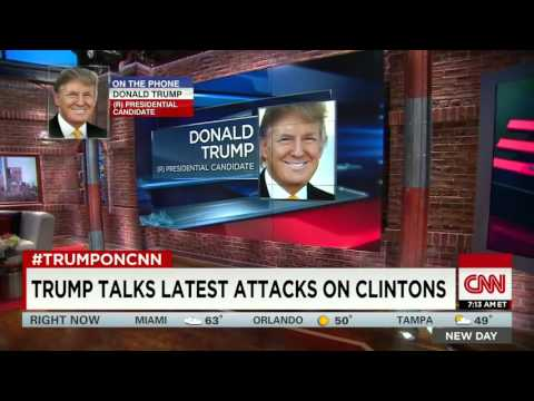 Trump Talks About Clinton's Past With Monica Lewinsky