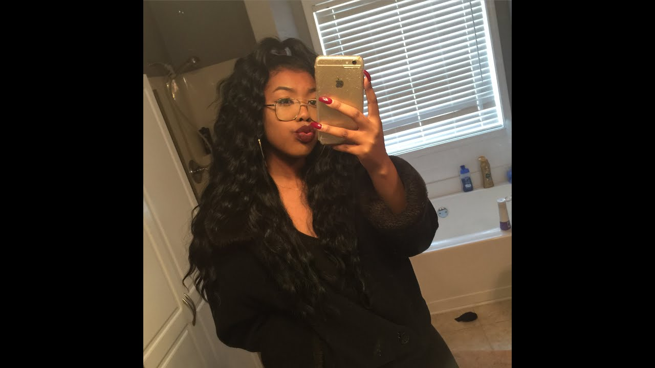 half up half down tutorial with closure youtube