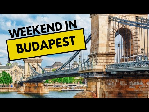 Weekend in Budapest Hungary. Enjoy Heroes square & Buda castle &  Budapest food