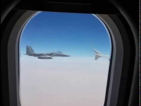 Saudi F-15 fighter jet tails Iranian plane trying to land in Sanaa Yemen