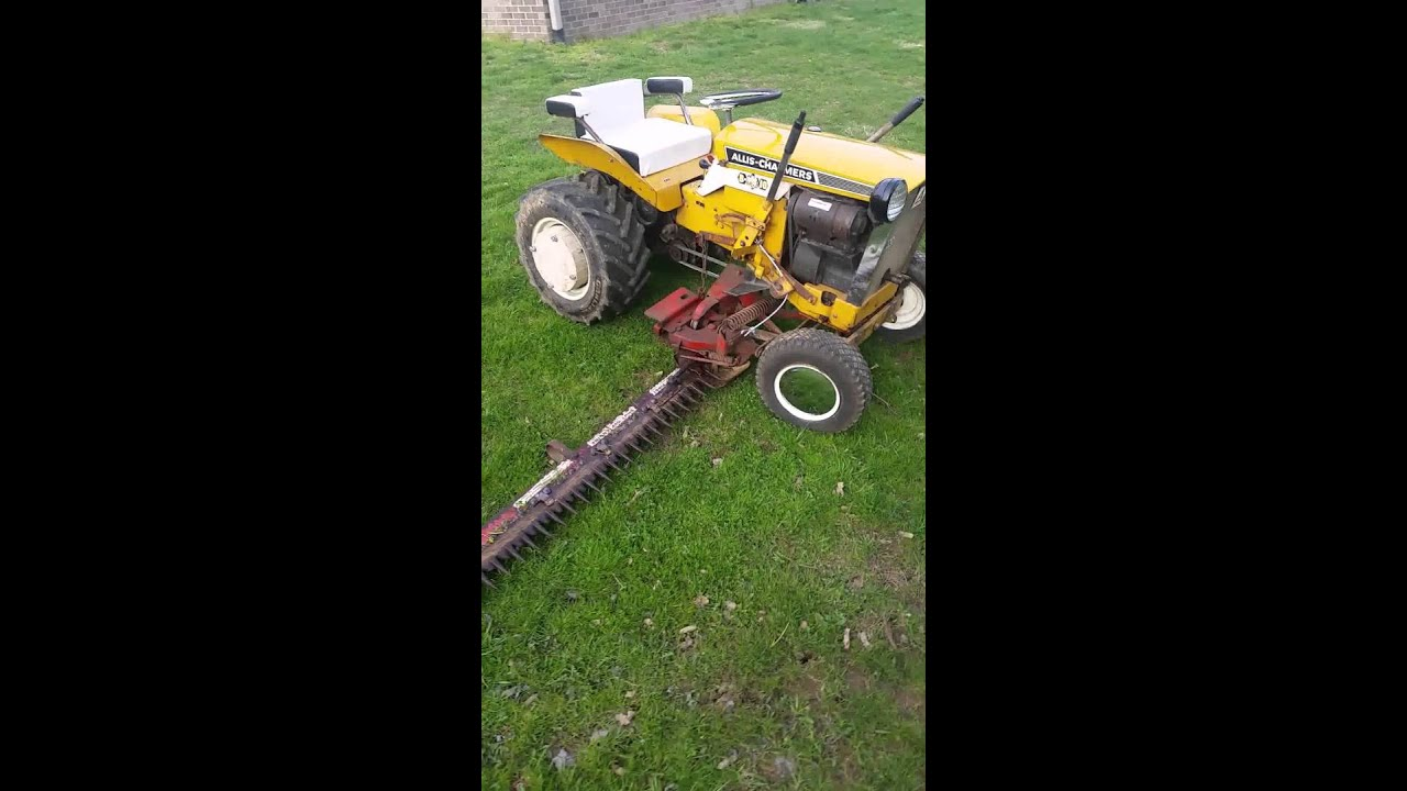 Tractor Hoist Bars : Simplicity allis chalmers cable lift sickle bar mower