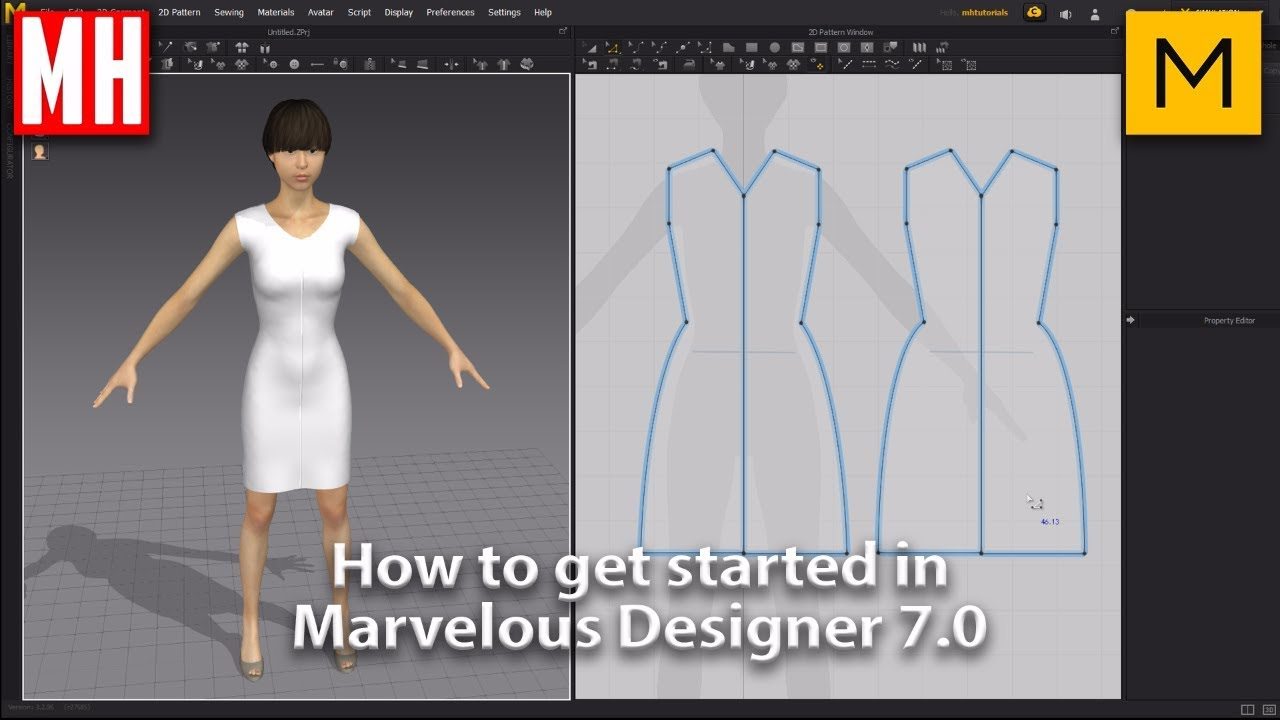 How to get started in Marvelous Designer 7.0 - YouTube