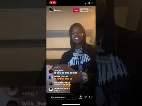 Big Scarr previewing unrealeased music On Ig Live #bigscarr #1017