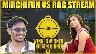 MirchiFun Vs Rog Stream Fight In Bridge | Rog Stream In Same Match | MYT Clan Pubg Game Play