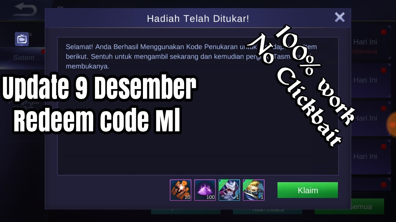 Update Redeem code Mobile legend terbaru Desember 2018 ...
