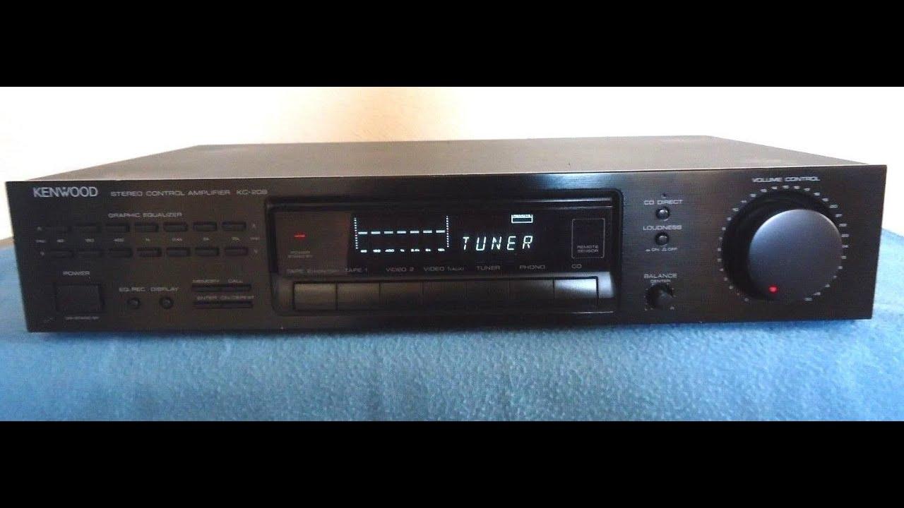 kenwood kc-209 stereo pre amplifier (00532524) - youtube