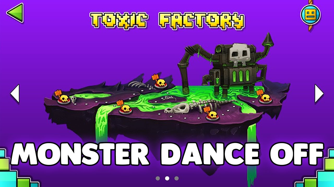 geometry dash world monster dance off 100 complete