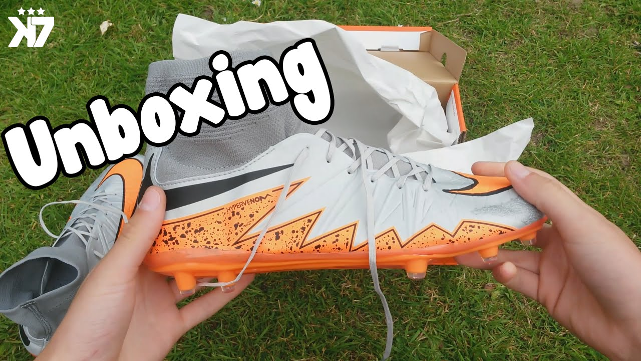 Nike Hypervenom Phantom 2 Wolf Grey & Orange | Replica Unboxing | Aliexpress