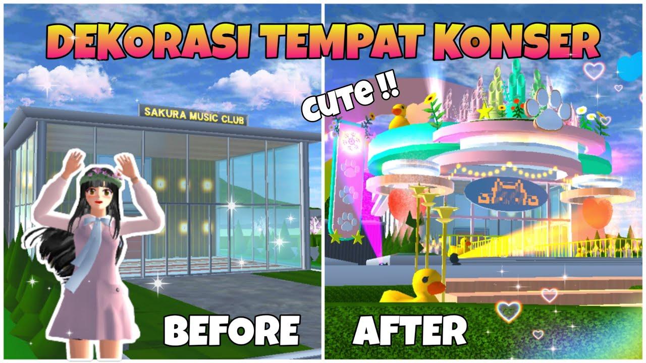 Dekorasi Tempat Konser Hasil Update Terbaru !! Jadi Cute Aesthetic + ID   SAKURA SCHOOL SIMULATOR