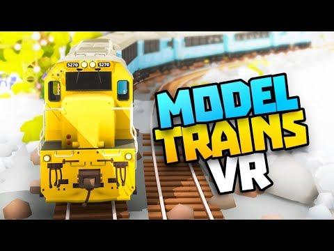 AMAZING VR MODEL TRAIN SIMULATOR - Rolling Line VR Gameplay - VR HTC Vive Pro Gameplay