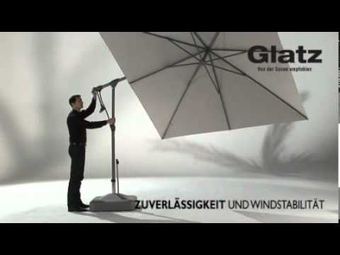 bedienungsanleitung glatz sonnenschirm sunwing c youtube. Black Bedroom Furniture Sets. Home Design Ideas