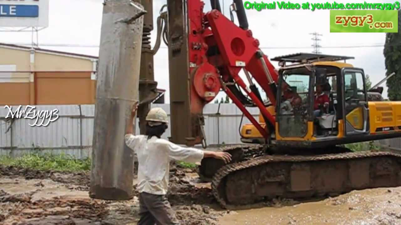 Sany SR150C Hydraulic Piling Rotary Drill Rig Drilling Installing Casing