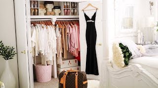 Closet Tour 2018 Glam closet declutter  closet makeover Wardrobe Decorating Ideas Ikea organization