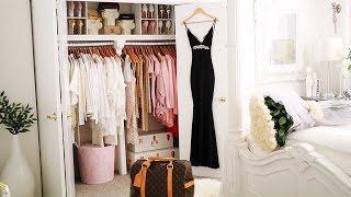 Closet Tour 2019 Glam closet declutter  closet makeover Wardrobe Decorating Ideas Ikea organization