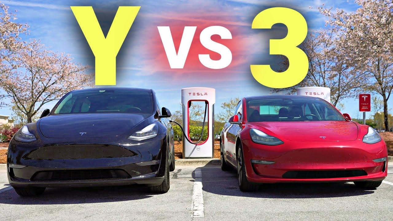 Tesla Model 3 vs Model Y: Road Trip Range Test!