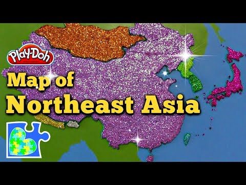 Northeast Asia Map: Super Fun Educational Play-Doh Puzzle + Country Quiz!