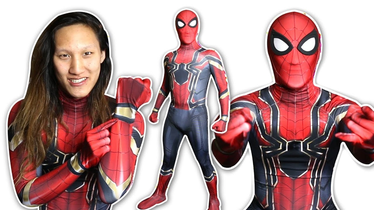 Spider Man Iron Spider Suit Cosplay (unboxing) Youtube
