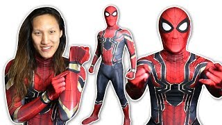 Spider Man IRON SPIDER Suit Cosplay (UNBOXING)