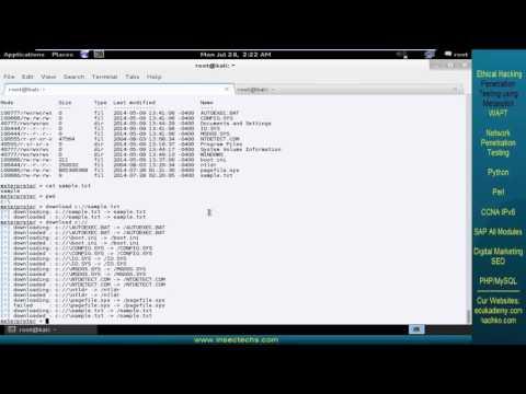 26 meterpreter file commands
