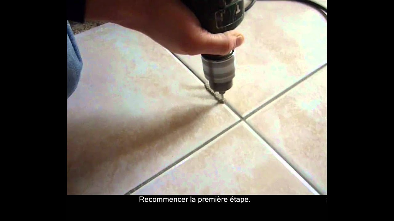 Hd comment d monter les joints d 39 un carrelage youtube - Refaire joint carrelage ...